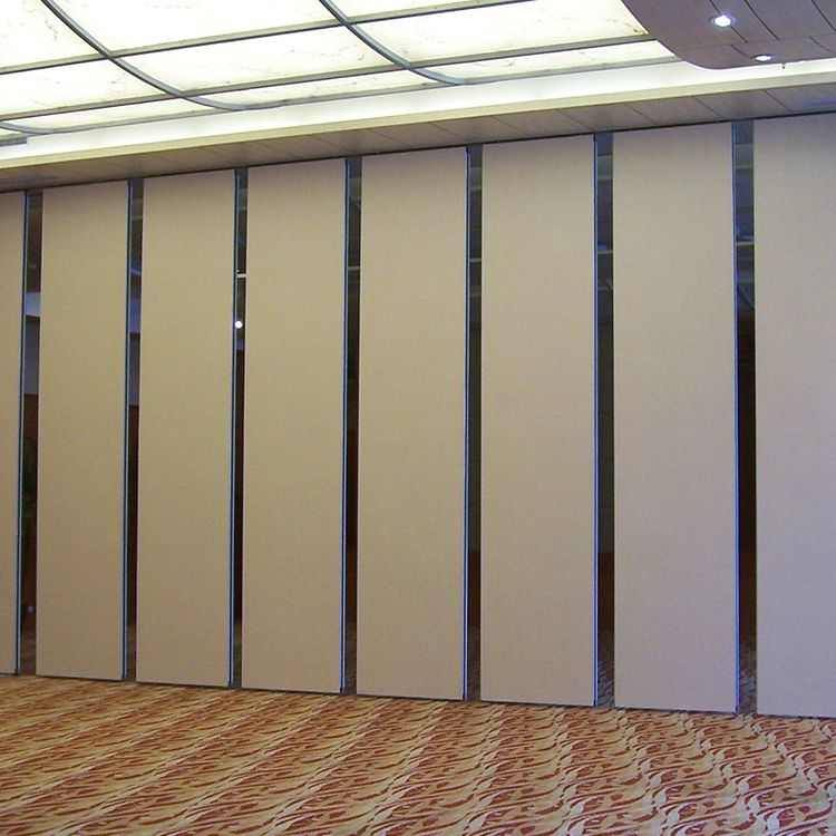 深圳赛勒尔木质移动屏风隔断墙 超高型推拉活动隔断折叠门案例视