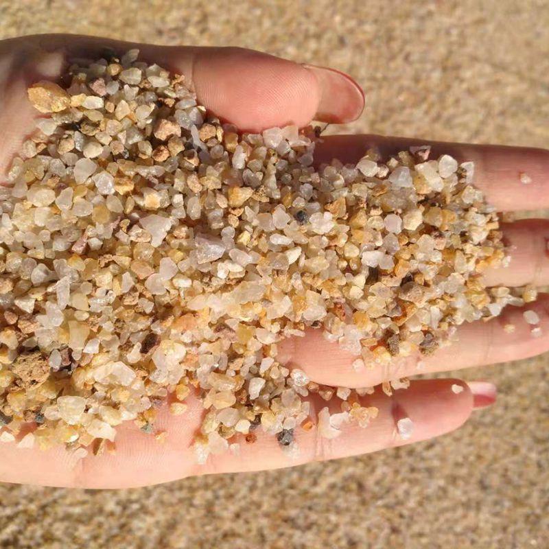 本格直销石英砂 硬度高 粉尘少 喷砂 除锈铸造石英砂效率高