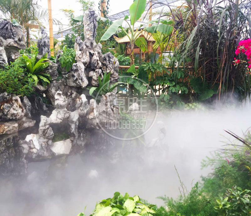 西安人造霧景觀廠家園林景區噴霧降溫造景人造假山湖景降溫造景