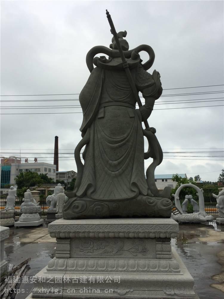 鄂尔工厂汉白石雕关公像 骑马关公像