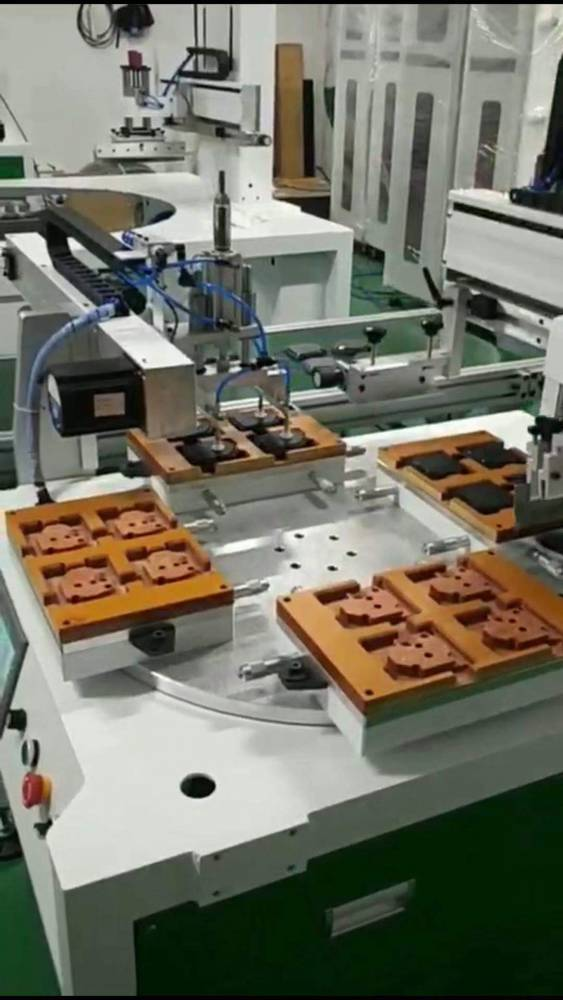 安阳锯片切割片锯条转盘丝印机厂家半自动丝印