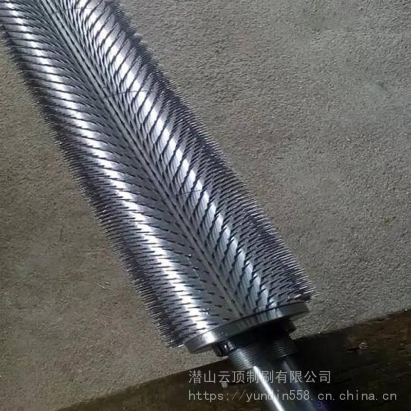 不锈钢带刺 云顶刷业 针刺钢排 针辊定制 带针滚轮 打孔针轮