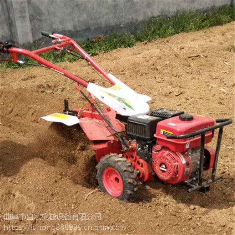 手推式小型松土机 多功能四驱柴油开沟旋耕机