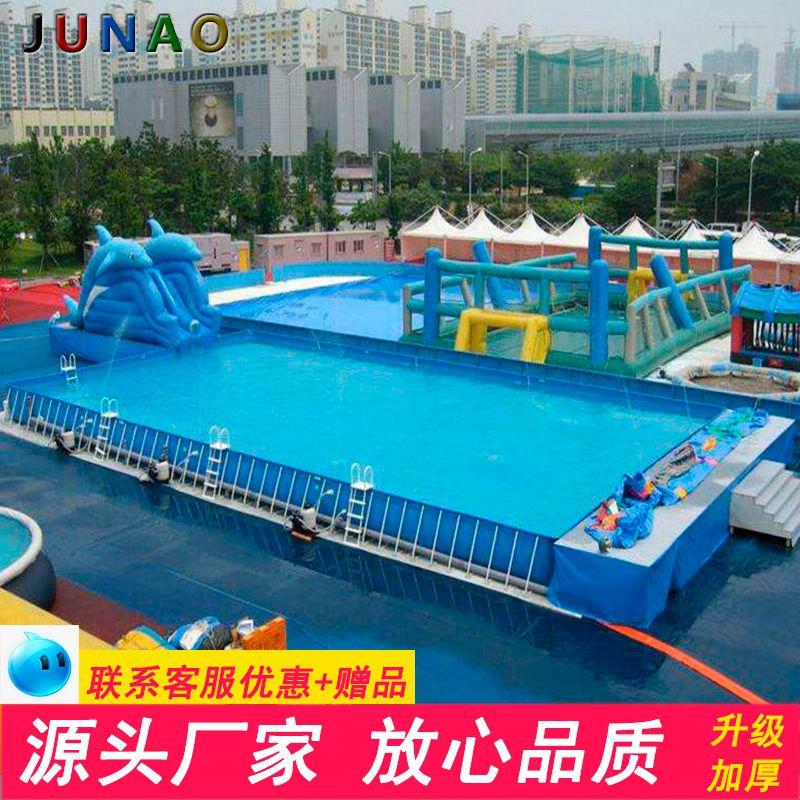 批发PVC充气游泳池儿童成人大型支架充气水池 可定制 支架水池哪里有卖