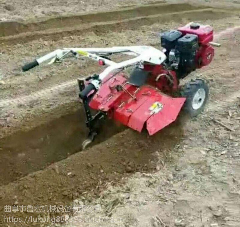 新款四驱多功能汽油微耕机 果园开沟除草机