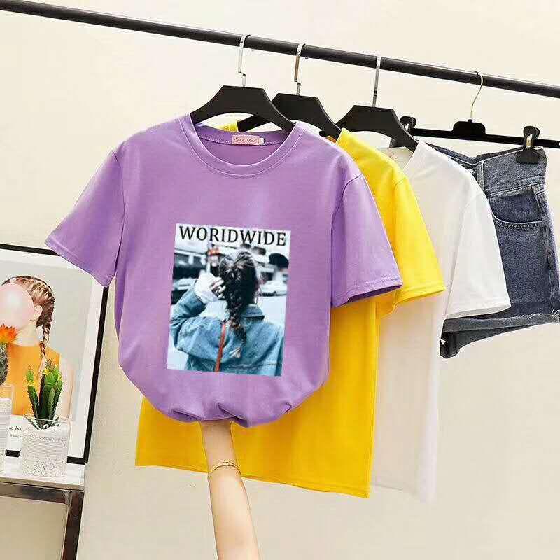 大码夏季韩版女T哪里有几元纯棉服装批发云南几元服装特价批发