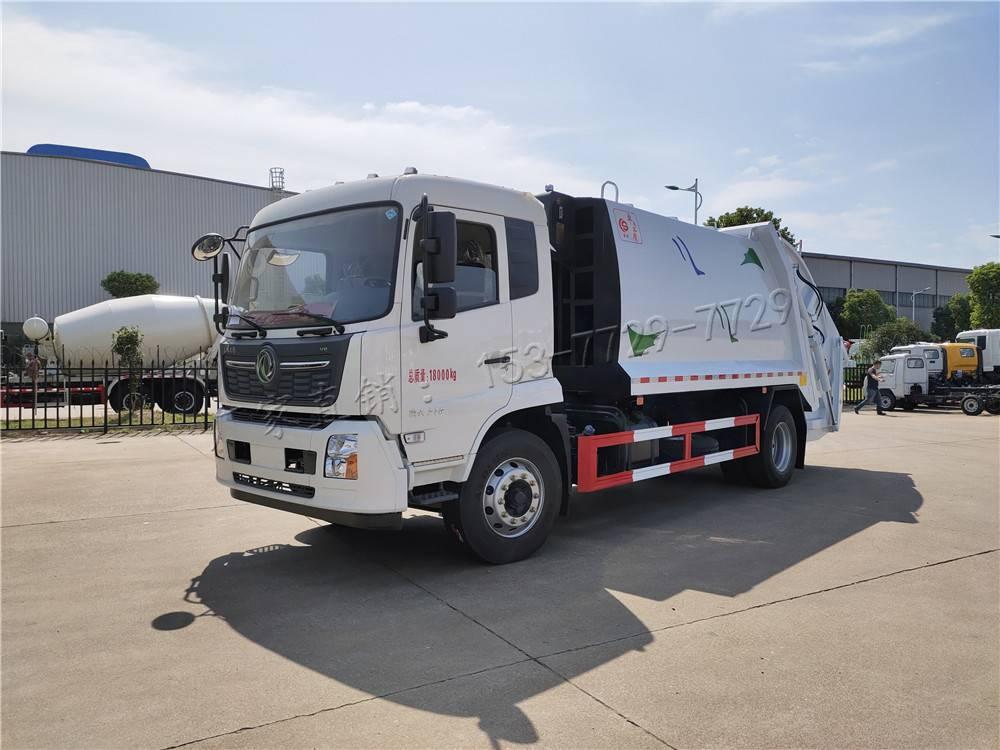 东风天锦14方压缩式垃圾车,湖北楚胜环卫垃圾车厂家