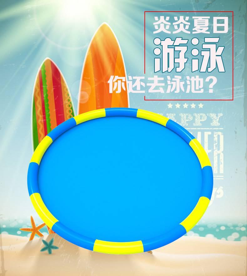 厂家直销批发充气水池 儿童水上乐园设备pvc充气泳池可定制 泳池充气设备哪里有卖