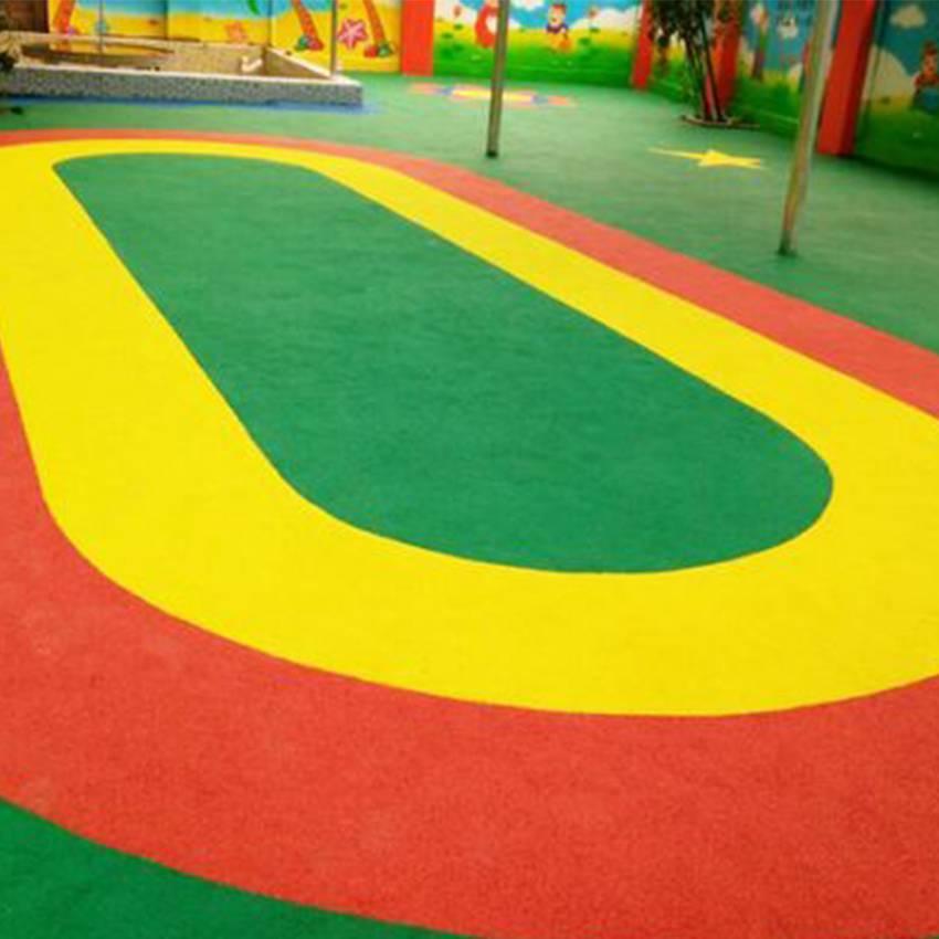 广西游乐园场地工程承接,EPDM地面材料批发施工一场式服务,德朝体育新国标环保运动地材