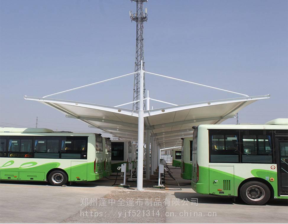 周口顺发工厂直销SFMJG4739新能源公交车膜结构车棚