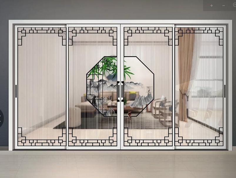 鋁合金玻璃門廣東鋁合金門廠新中式工藝門