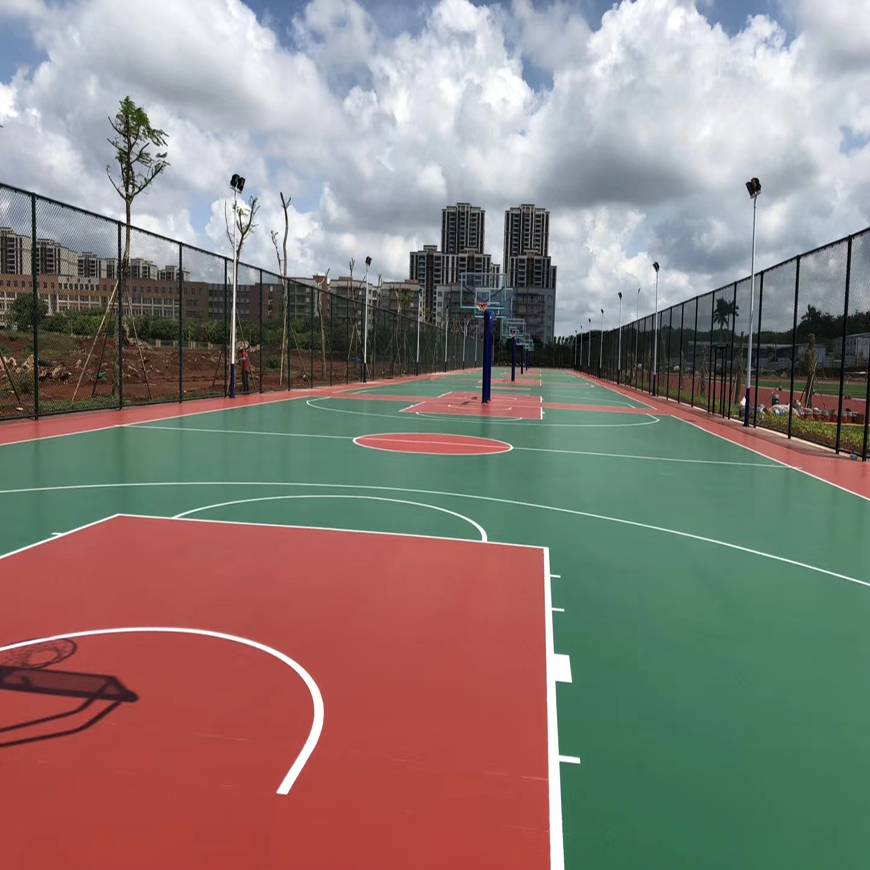 汕头悬浮地板篮球场,汕头悬浮地板篮球场翻新图片
