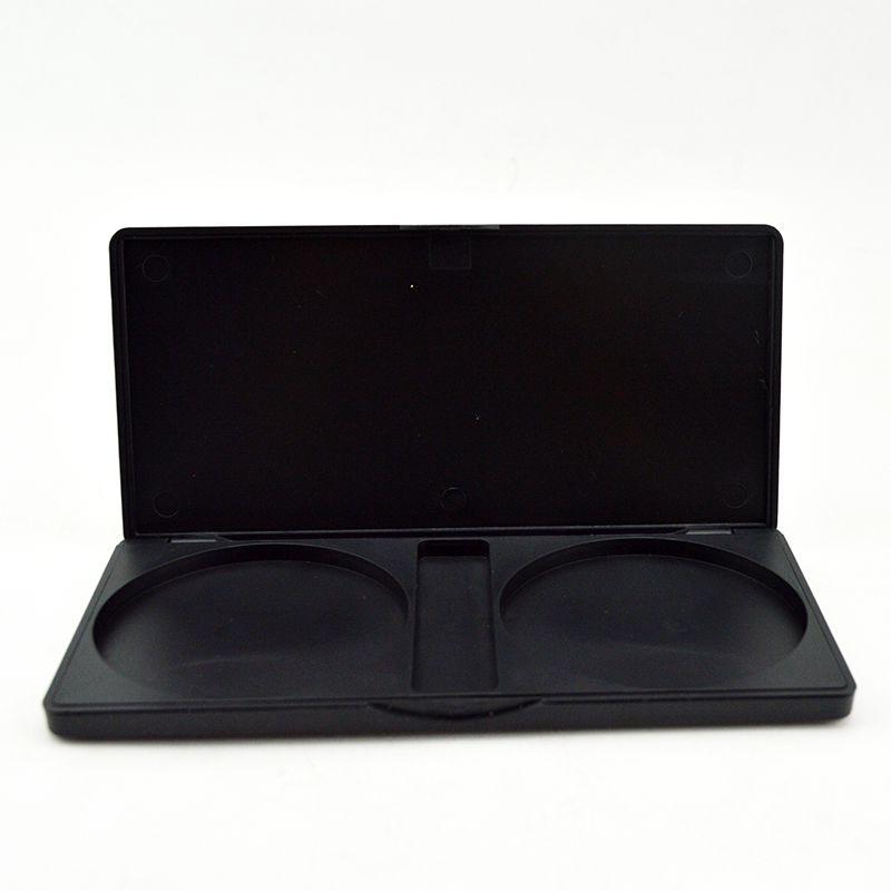 2色眼影盘塑胶眼影空盒包材定制厂家