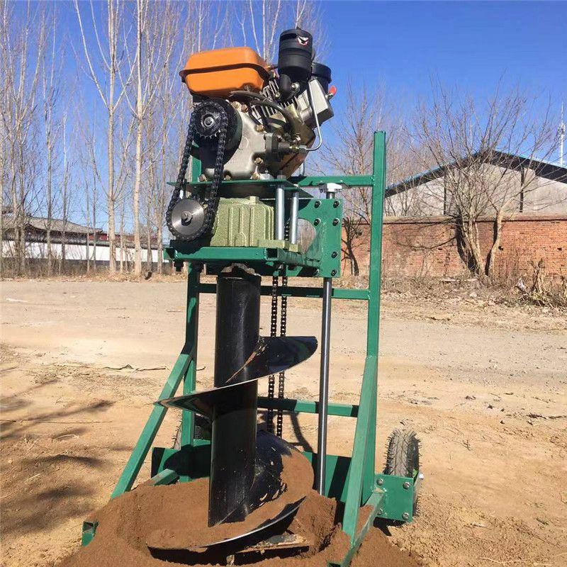 手摇式柴油挖坑机操作视频