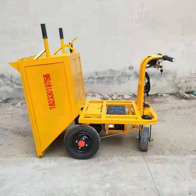现货供应电动手推车养殖场专用电动拉粪拉饲料车工地拉灰拉砂浆
