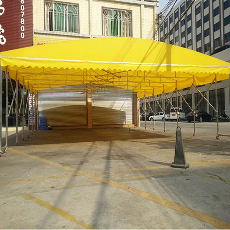 大型倉儲推拉雨棚 電動推拉雨棚 伸縮帳篷定做