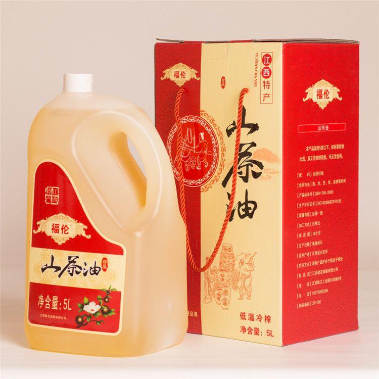 5L大瓶礼盒装冷压榨野山茶油