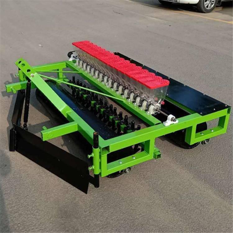 润林四轮车带蔬菜播种机株距行距可以调节高粱播种机新款谷子精播