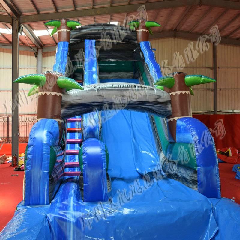 郑州水上游乐设备厂家直销充气水滑梯