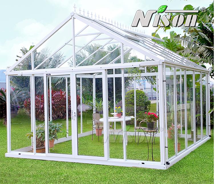 绿森Nison人字顶欧式阳光房玻璃房温室
