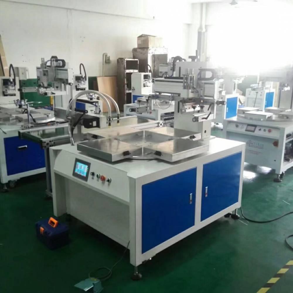湛江外卖打包盒转盘丝印机厂家半自动丝印机
