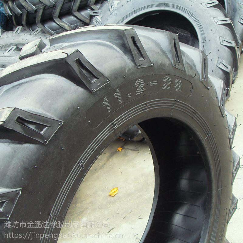 旱田用拖拉机11.2-28轮胎 农用人字花纹轮胎 全新 带内胎