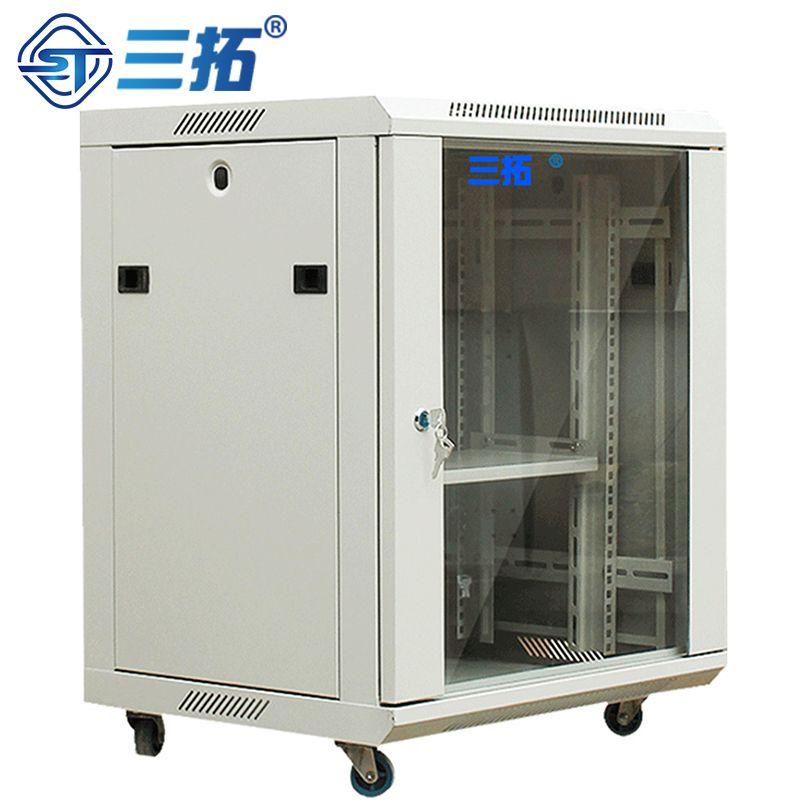 三拓 机柜12u网络机壁挂墙柜弱电监控交换机机柜 钢化玻璃 T3.6612 含税含运