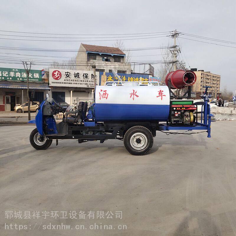 河南柴油2吨雾炮喷洒车 多功能洒水车多少钱