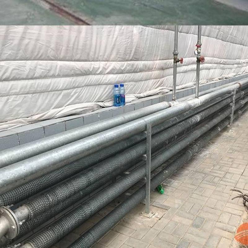 哈尔滨 大棚热镀锌散热器 大棚钢制翅片管散热器