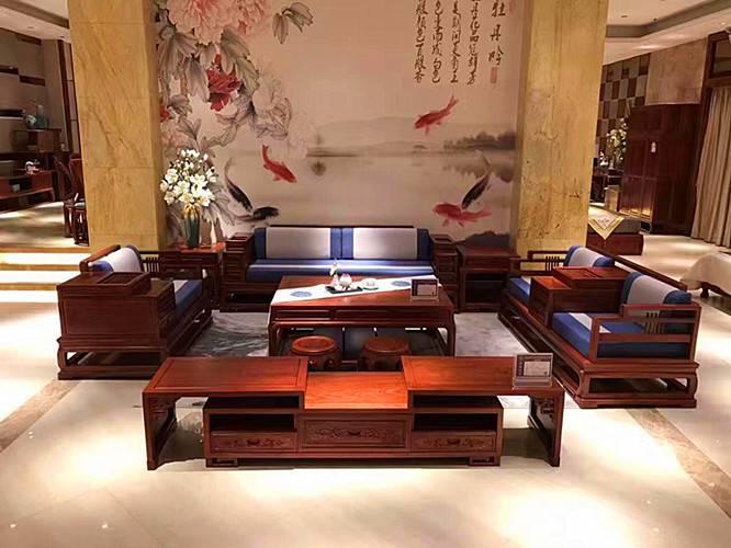 商務會所配套沙發款式中式風格紅木工廠參考價格