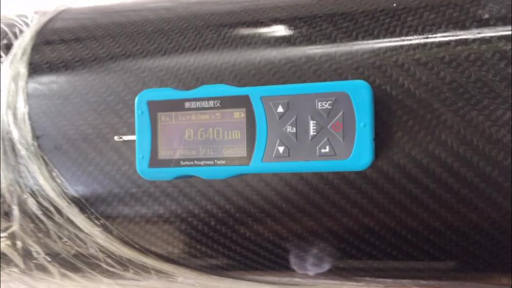 碳纤维辊轴表面光洁度粗糙度的测量