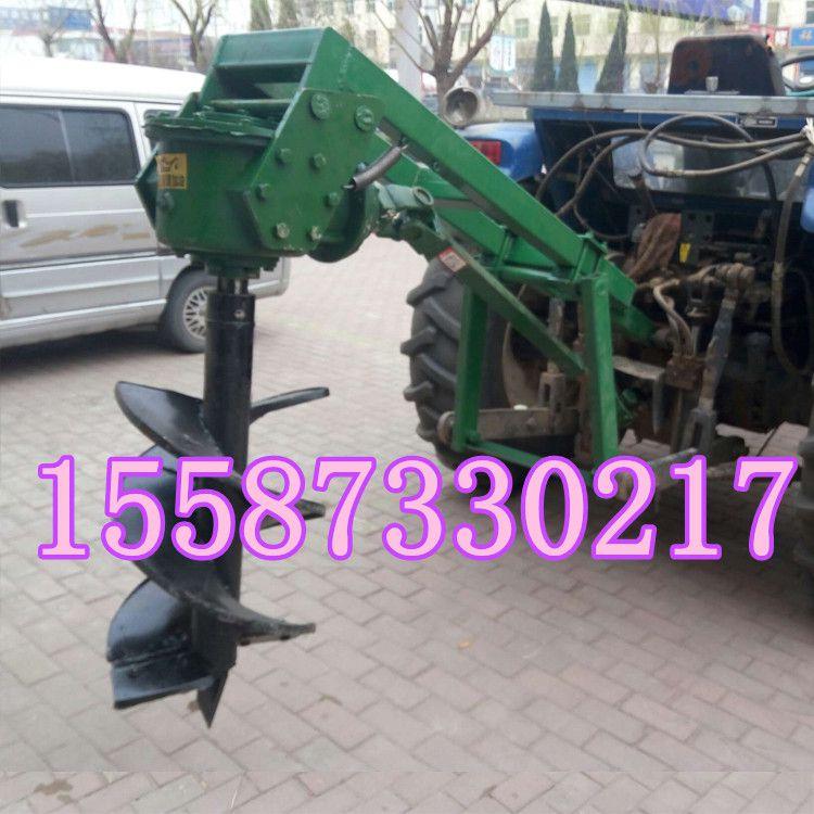 拖拉机挖坑机 大马力拖拉机带植树挖坑机厂家