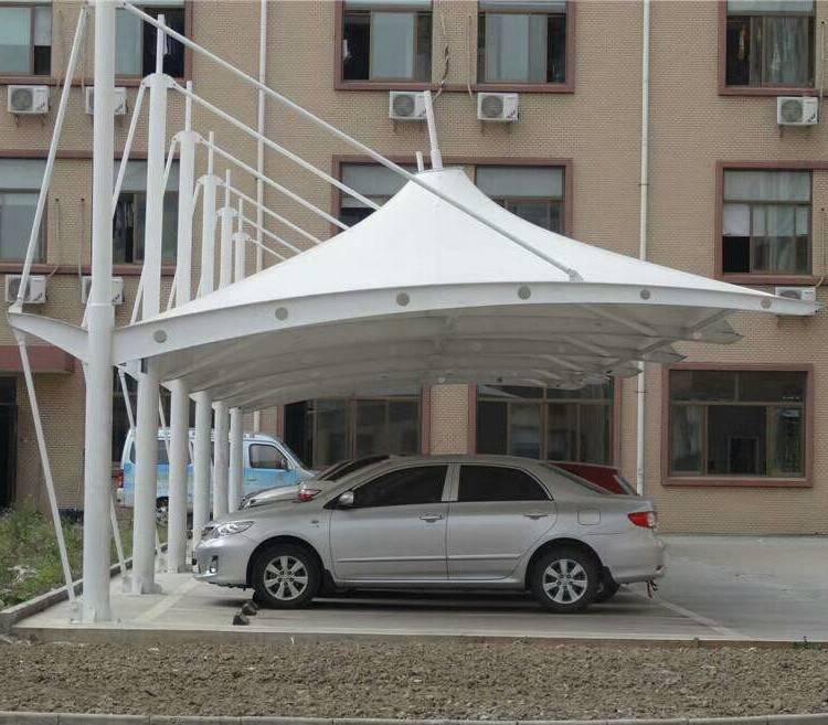 顺发专业定做安装膜结构停车棚 防雨篷 遮阳蓬