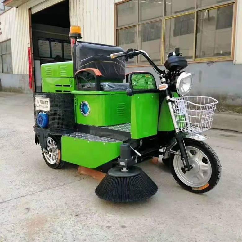 小型电动三轮扫路车路面清理车