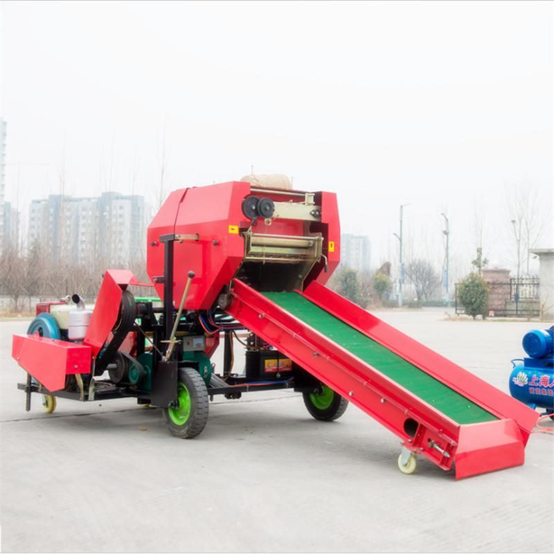 青贮牧草打包机 玉米秸秆压块机 草料储存打包机