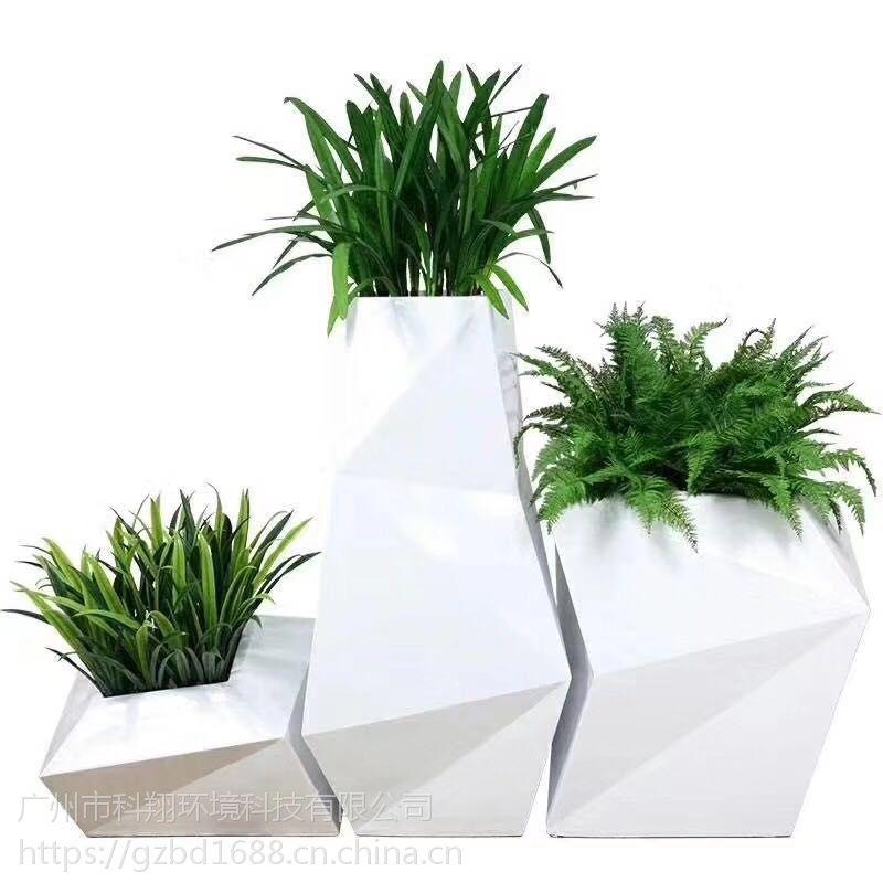 玻璃钢组合式花盆花箱花钵KX-1288高品质玻璃钢工艺创意型花盆室内装饰户外种植鲜花绿草专用花箱