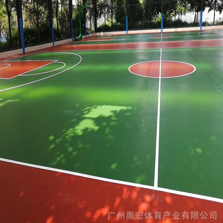 硅pu户外篮球场造价,室外篮球场塑胶地面图片