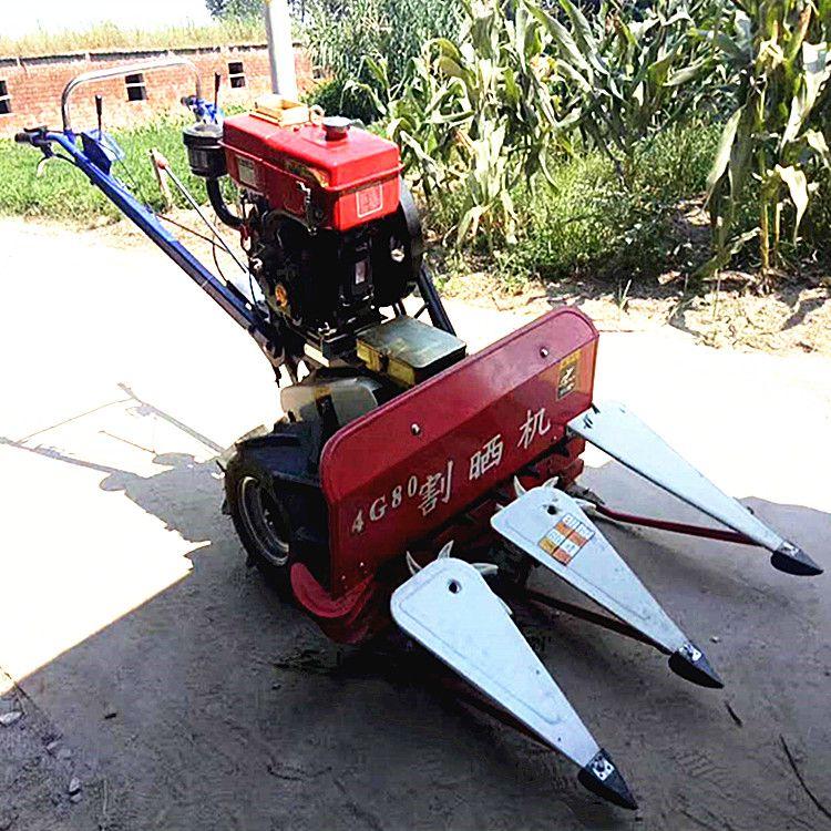 热销割草机/农用手扶式汽油柴油收割机/秸秆油菜籽割晒机