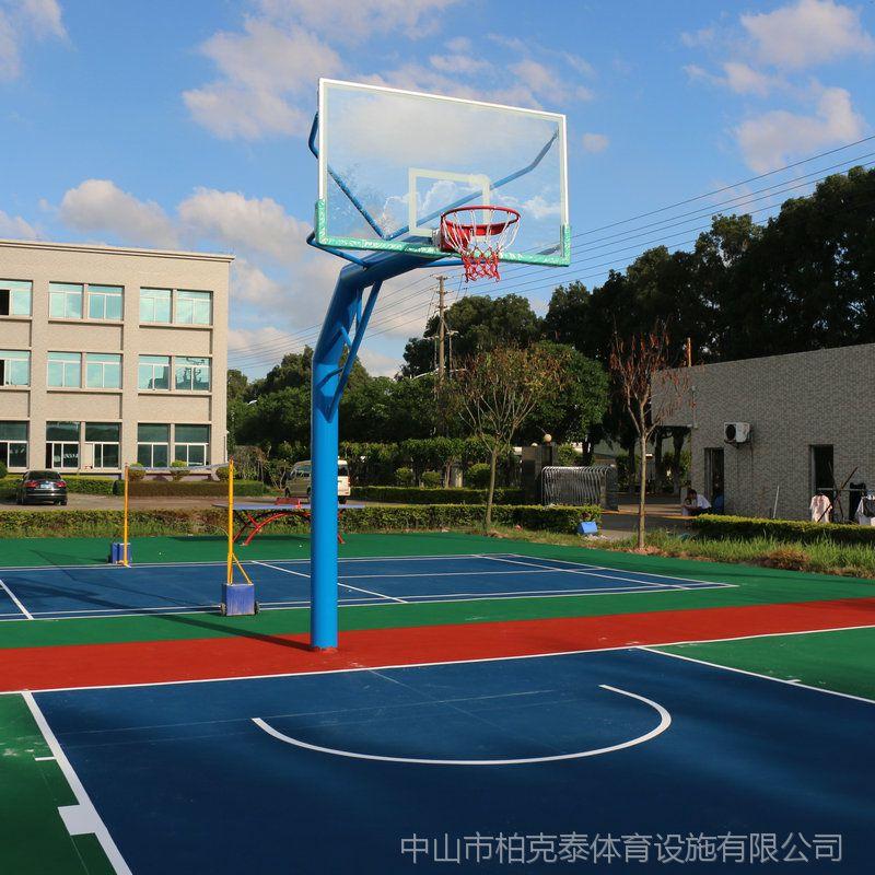 江门篮球供货厂家 室外共享锻炼设备款式 柏克球架标准规格参数