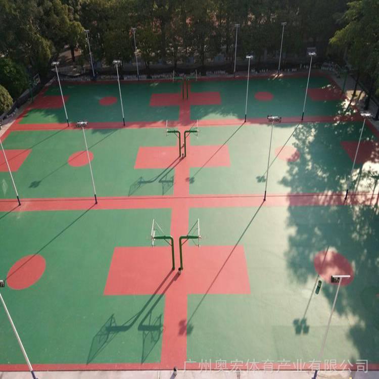 内蒙古塑胶篮球场,篮球场地硅pu材料图片