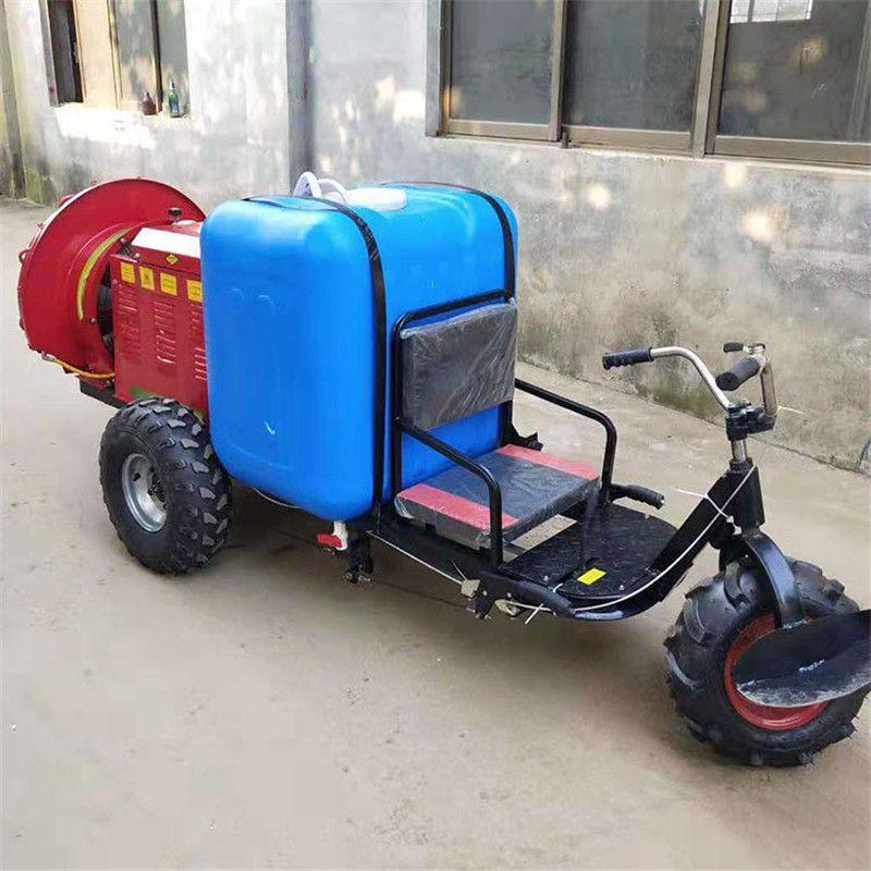 农田治虫打药机-座驾式果树风送配药器-三轮行走式打药车
