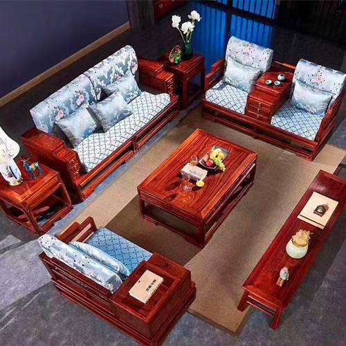 紅木沙發款式新中式江南沙發刺猬紫檀工廠價格