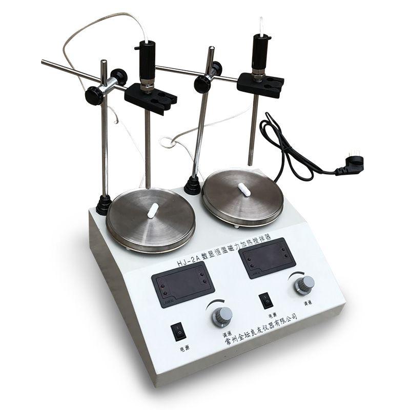 HJ-2A双头数显磁力搅拌器多头封闭式