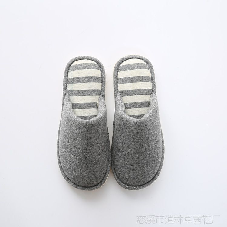 秋冬新款棉拖约情侣居家地板拖鞋简洁家用软底拖鞋家居室内棉拖鞋