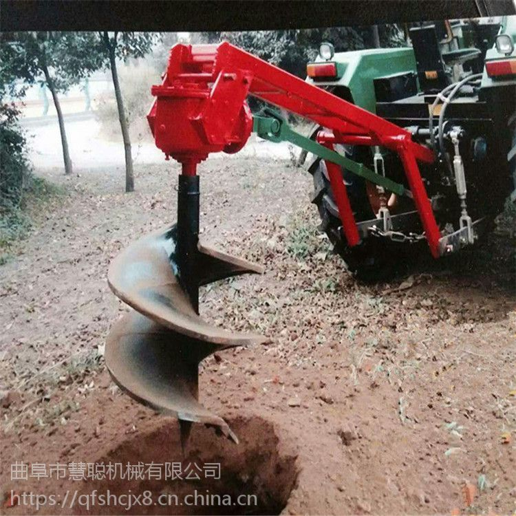 液压打桩机 悬挂式植树挖坑机 慧聪耐磨损电线杆大棚打桩机价格