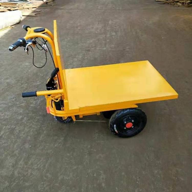 电动拉砖车 电动平板车 手推三轮车