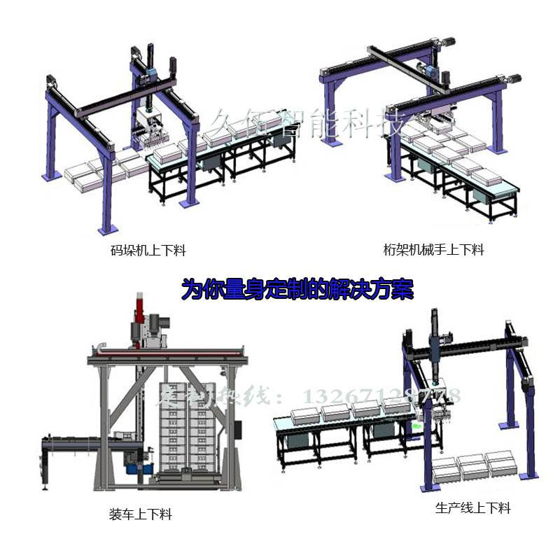 包裝袋桁架機械手全自動桁架式碼垛機裝車上下料廠家熱銷支持定制