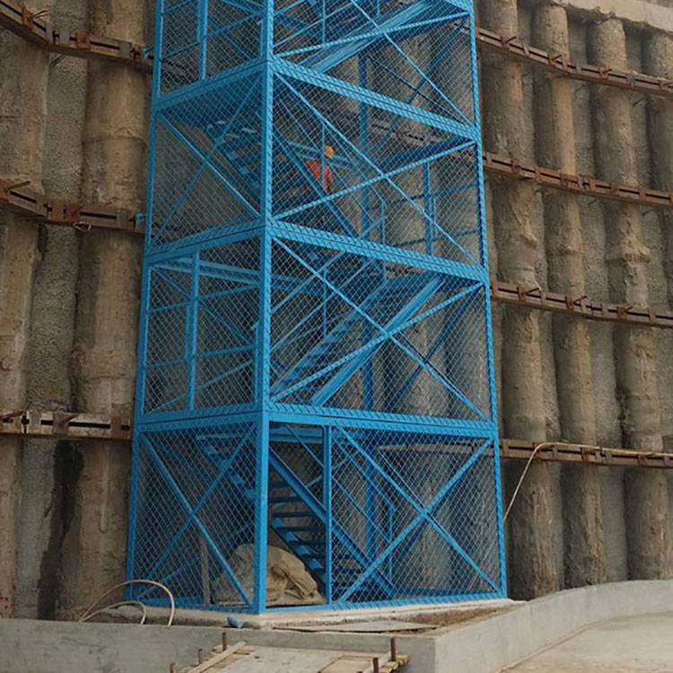 安全笼梯 组合式安全笼梯 深基坑上下用爬梯 汉坤实业
