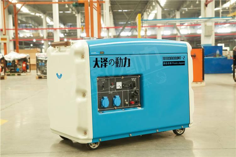 8kw静音柴油发电机出厂测试