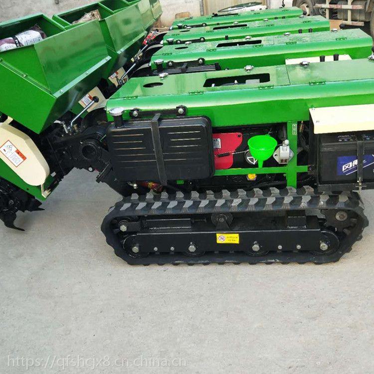 慧聪机械 电启动开沟施肥机 自走式旋耕锄草机 柴油履带开沟机厂家